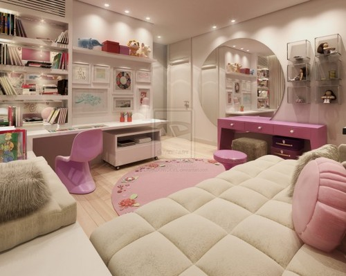 Image of: Beautiful Pink Teen Girl Bedroom Furniture