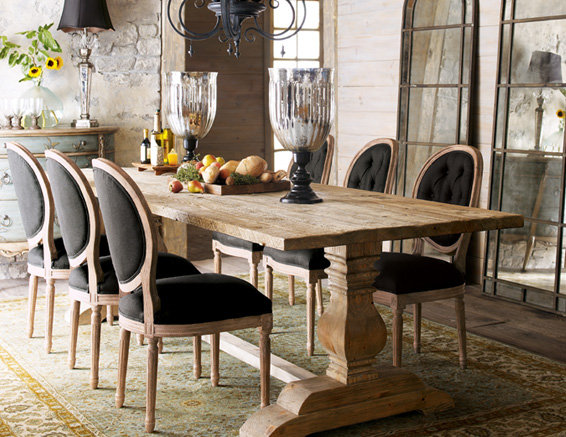 Image of: Belgian Farmhouse Dining Table