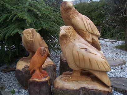 Bird Wooden Garden Ornament