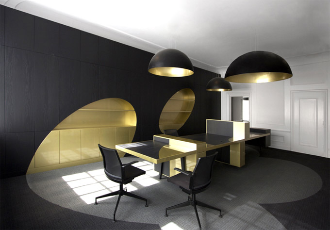 Image of: Black Cool Office Design