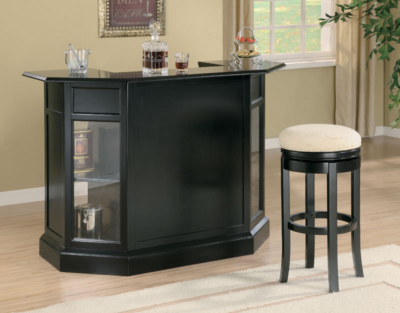 Image of: Black Home Bar Counter
