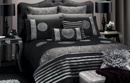 Image of: Amazing Black and Silver Bedroom Design