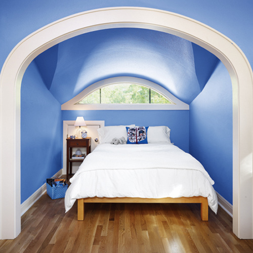 Blue Attic Bathroom
