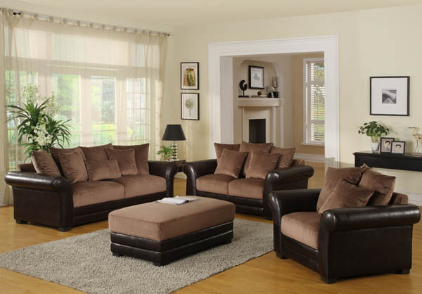 Image of: Brown Living Room Furniture Design