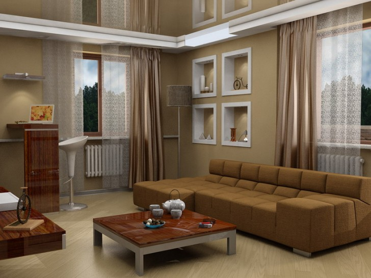 Image of: Brown Living Room Furniture