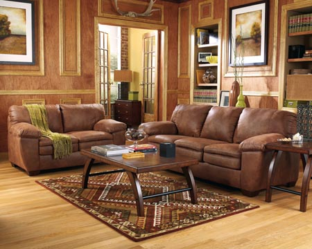 Image of: Awesome Brown Living Room Furniture