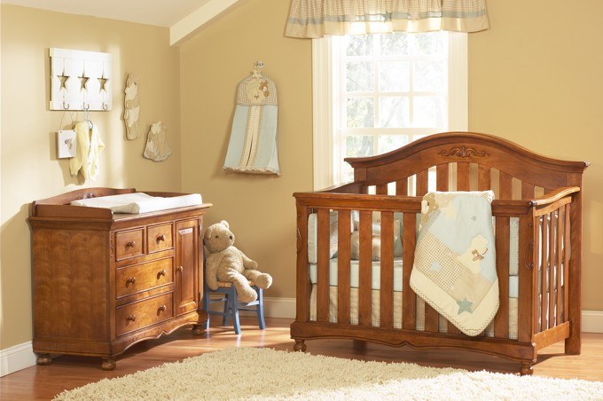 Brown Neutral Baby Room Idea