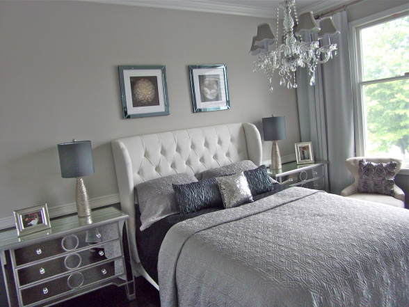 Calm Silver Bedroom Idea