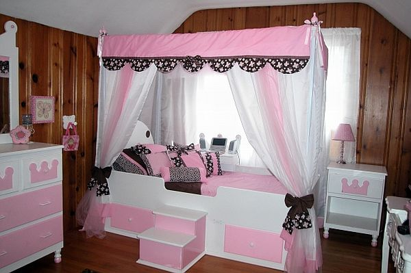 Image of: Canopy for Girl's Bed