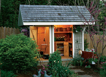 Image of: Cedar-Shingled Garden Shed