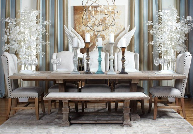 Image of: Coastal Chic Contemporary Dining Room Idea
