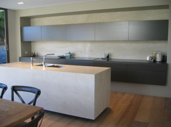 Concrete Contemporary Kitchen Island