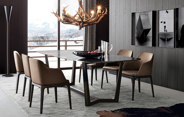 Image of: Contemporary Dining Room with Great Lighting and Chair