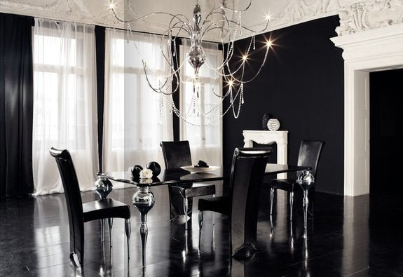 Image of: Contemporary Gothic Dining Room Design