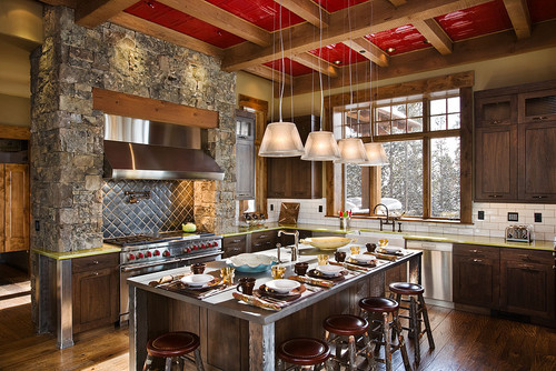 Contemporary Rustic Interior Design for Kitchen