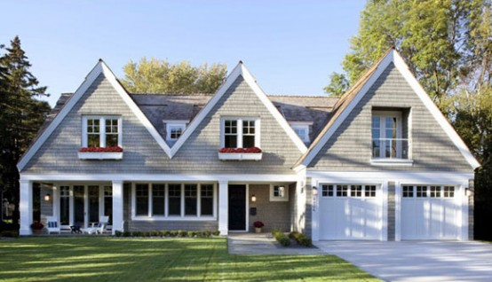 Image of: Contemporary Shingle Style House Design