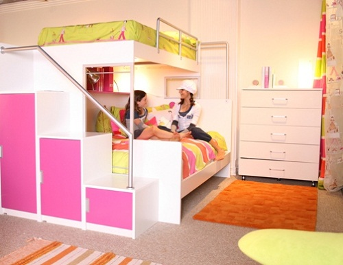Image of: Cool Bunk Beds for Teenage Girls