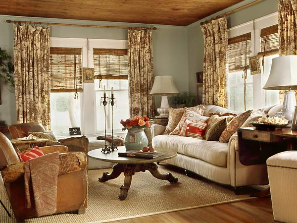 Image of: Cottage Living Room Furniture