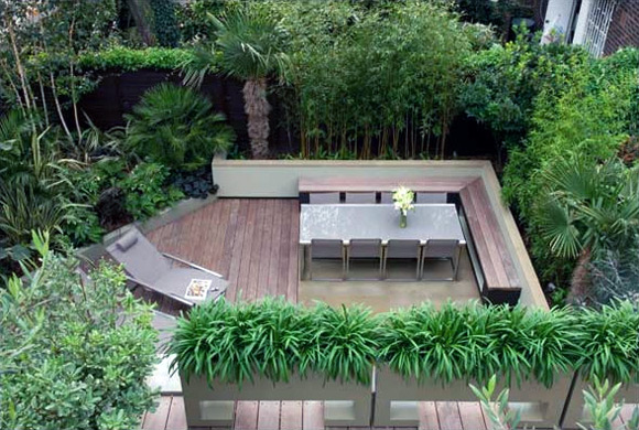 Image of: Courtyard Garden Design Ideas