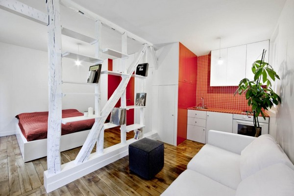 Image of: Creative 25 square Meters Apartment