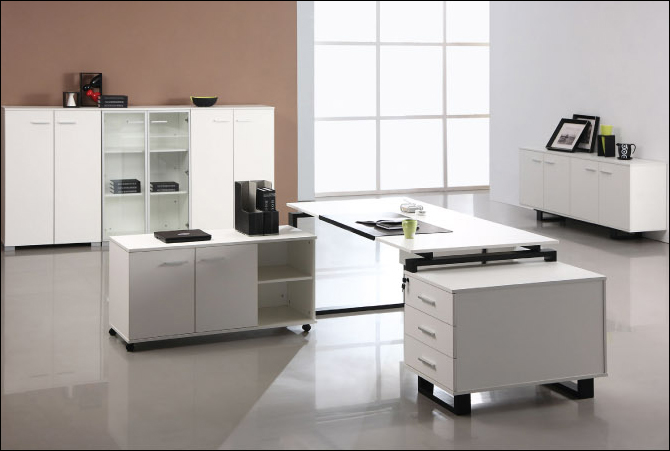 Image of: Cubical Modern Office Furniture Design
