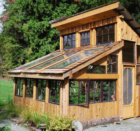 Image of: Cute Woody Greenhouse Idea