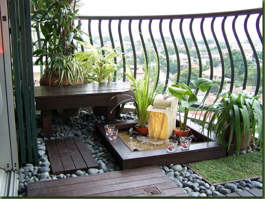 Image of: Decorate a Balcony