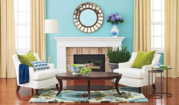 Image of: Decorating with Aqua in a Room