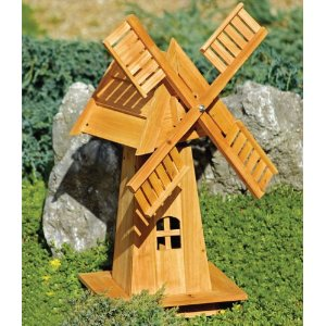 Image of: Decorative Windmill Wooden Ornament