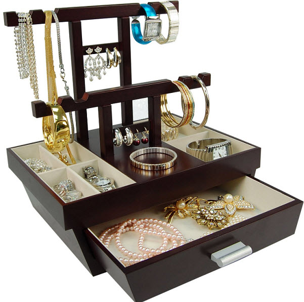 Image of: Drawer Jewelry Organizer