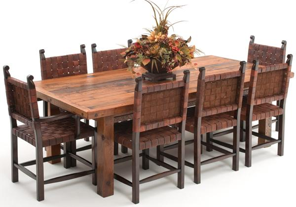 Image of: Farmhouse Dining Table Distressed