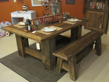 Farmhouse Dining Table and Bench