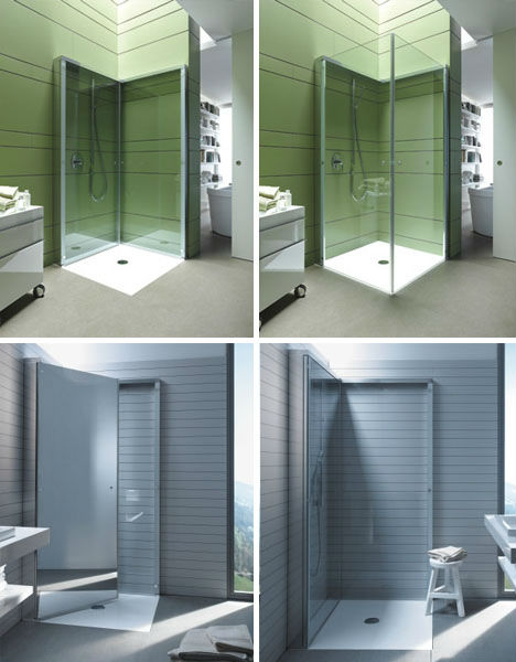 Image of: Flat Folding Shower