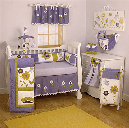 Flower Theme Baby Girl Nursery