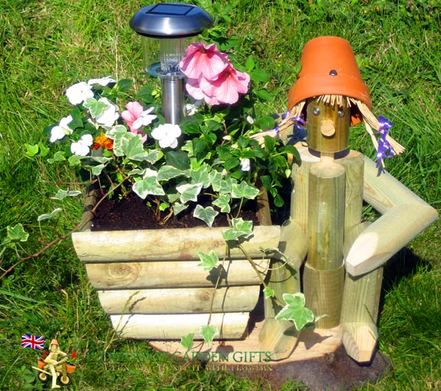 Flowerpot Man Wooden Garden Ornament