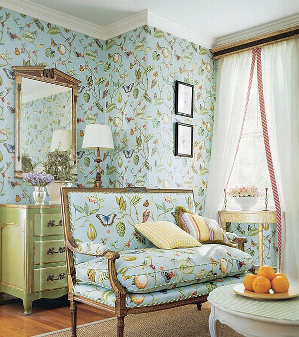 Image of: French Country Living Room Interior Design