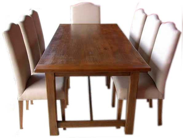 Image of: French Farmhouse Table with Chairs