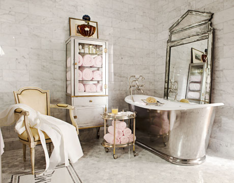 Image of: French Interior Style for Bathroom