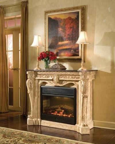 Image of: French Style Fireplace