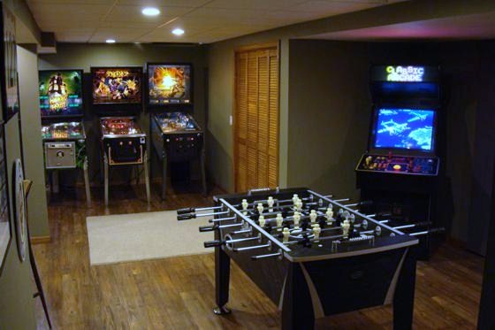 Image of: Game Room Ideas