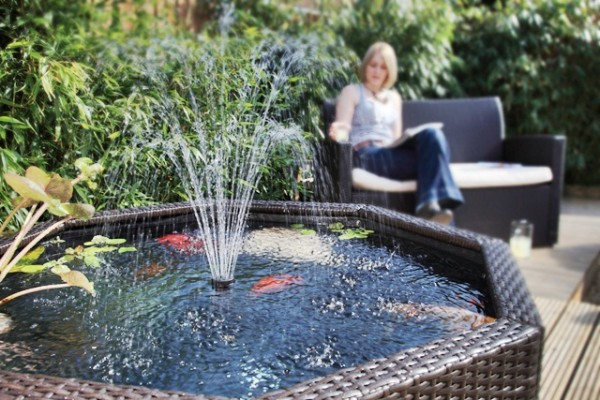 Image of: Garden Water Feature in Pond Style