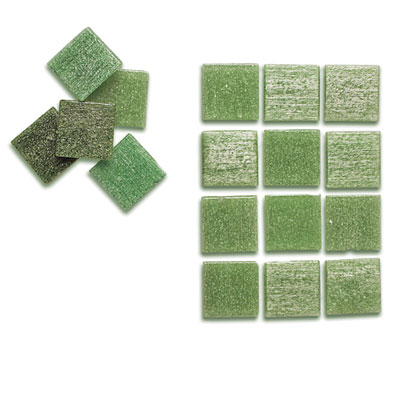 Image of: Green Glass Tile for Kitchen