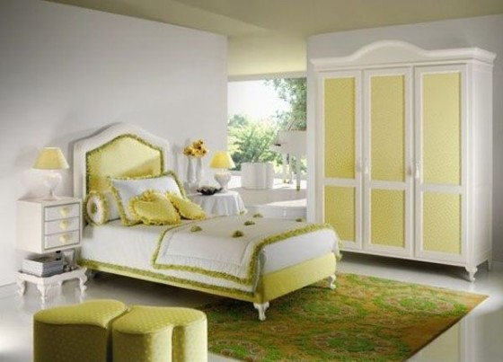 Happy Yellow Girl Bedroom Furniture