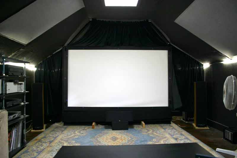 Image of: Home Attic Theater Room