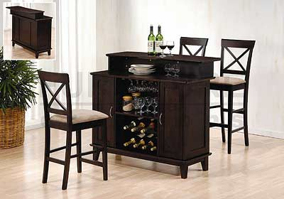 Home Bar Counter with Wine Rack