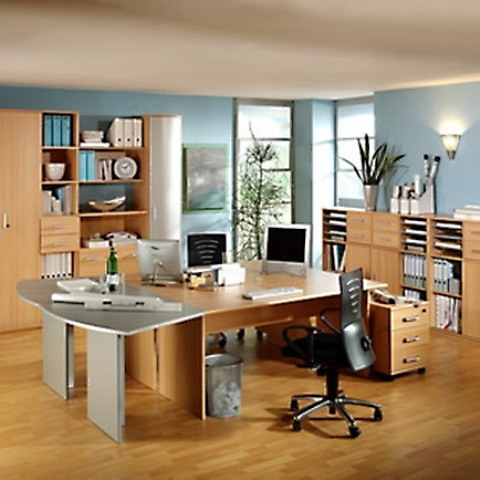 Image of: Home Office Furniture Arrangement Ideas
