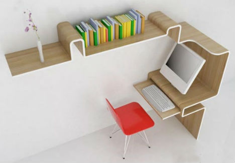 Image of: Home Office for Small Spaces