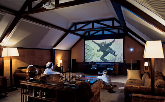 Image of: Home Theater Attic Design Idea