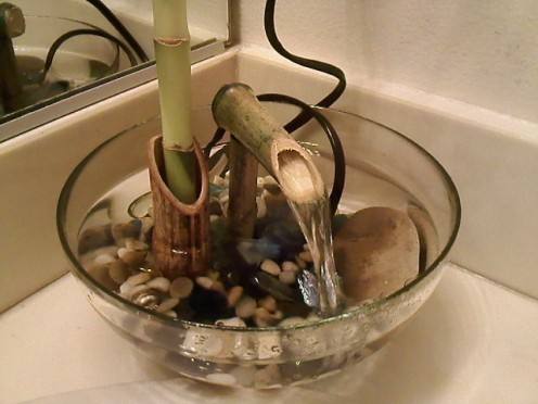 Image of: Homemade Indoor Bamboo Fountain