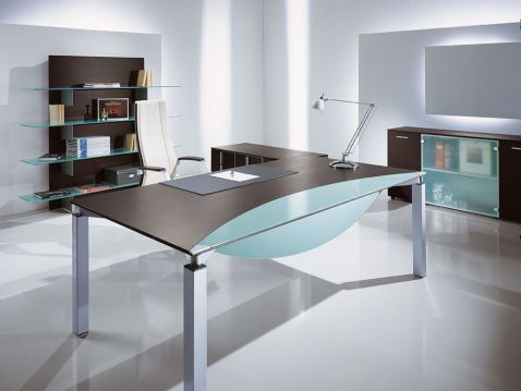 Image of: Hot Desk for Modern Office Design
